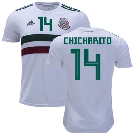 Men's Mexico #14 Javier Chicharito Away Soccer Jersey