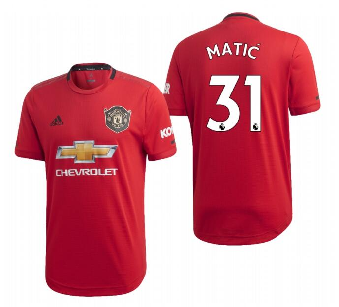Men's Manchester United #31 Nemanja Matic Red 2019 Soccer Club Home Jersey