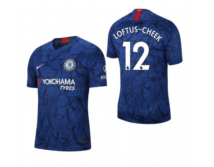 Men's Chelsea #12 Ruben Loftus Blue 2019 Soccer Club Home Jersey