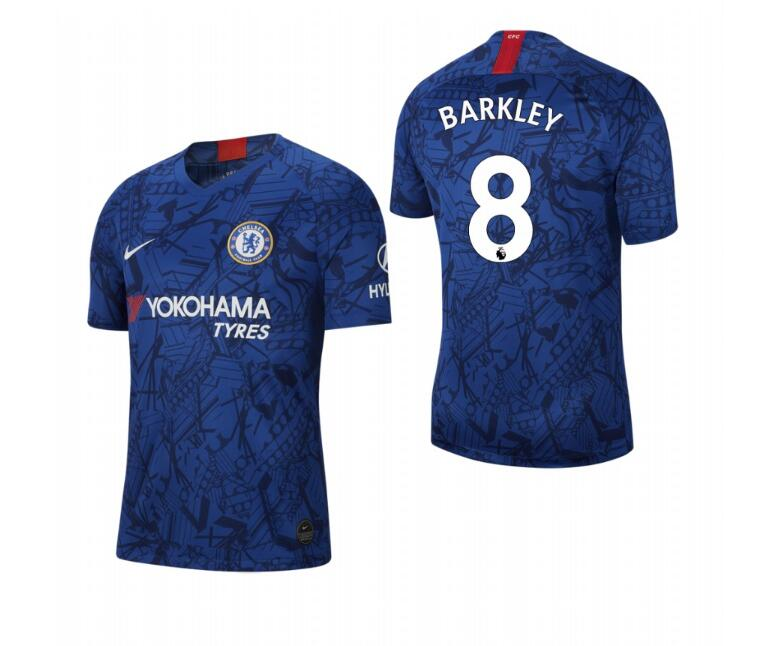 Men's Chelsea #8 Ross Barkley Blue 2019 Soccer Club Home Jersey
