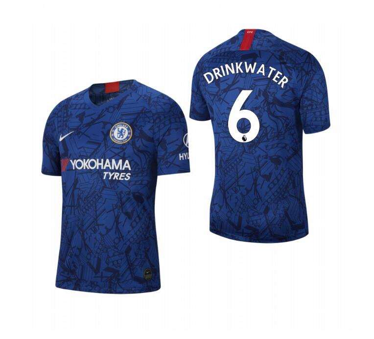 Men's Chelsea #6 Danny Drinkwater Blue 2019 Soccer Club Home Jersey