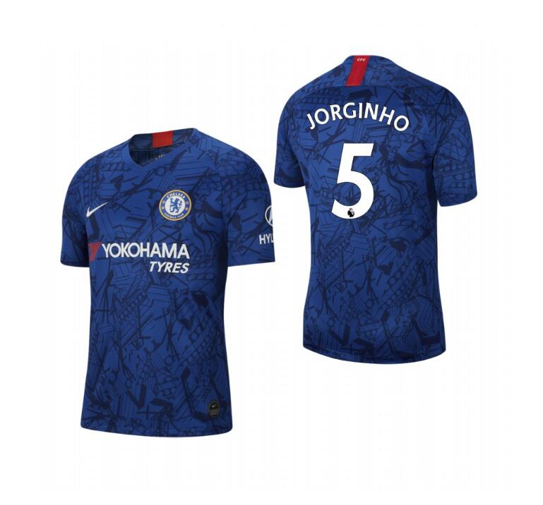 Men's Chelsea #5 Jorginho Blue 2019 Soccer Club Home Jersey