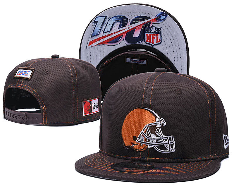 NFL Cleveland Browns 2019 100th Season Stitched Snapback Hats 022