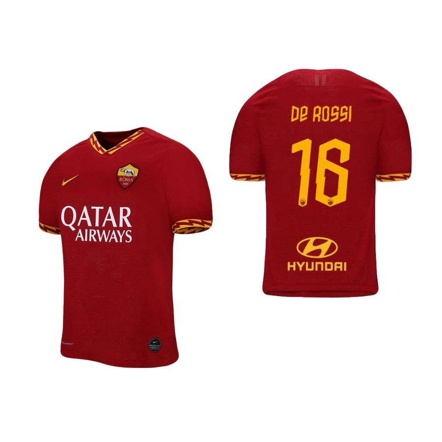 Men's Roma #16 Daniele Re Rossi Red 2019 Soccer Club Home Official Jersey