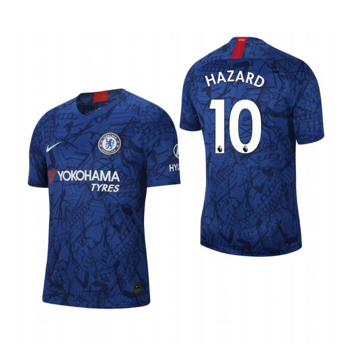 Men's Chelsea #10 Eden Hazard Blue 2019 Soccer Club Home Jersey