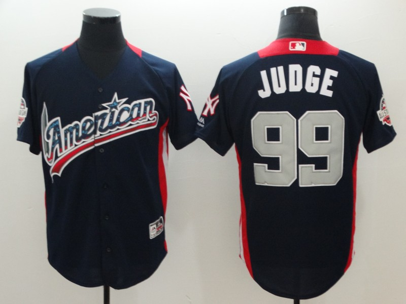 American League #99 Aaron Judge Navy 2018 MLB All-Star Game Home Run Derby Jersey