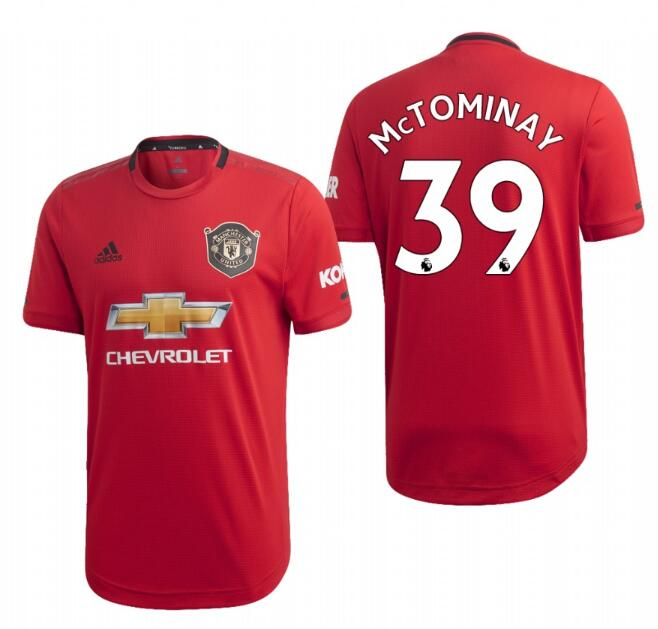 Men's Manchester United #39 Scott Mctominay Red 2019 Soccer Club Home Jersey