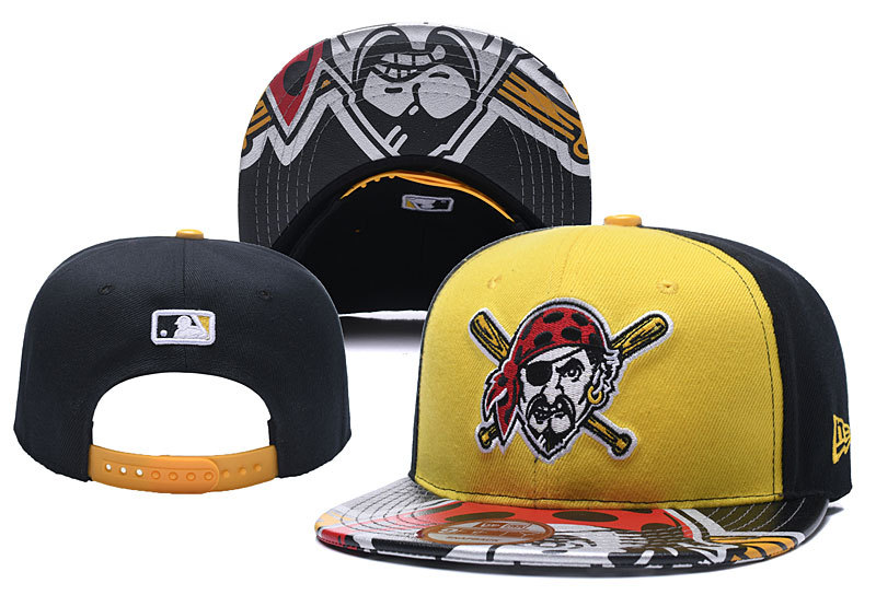 MLB Pittsburgh Pirates Stitched Snapback Hats 004