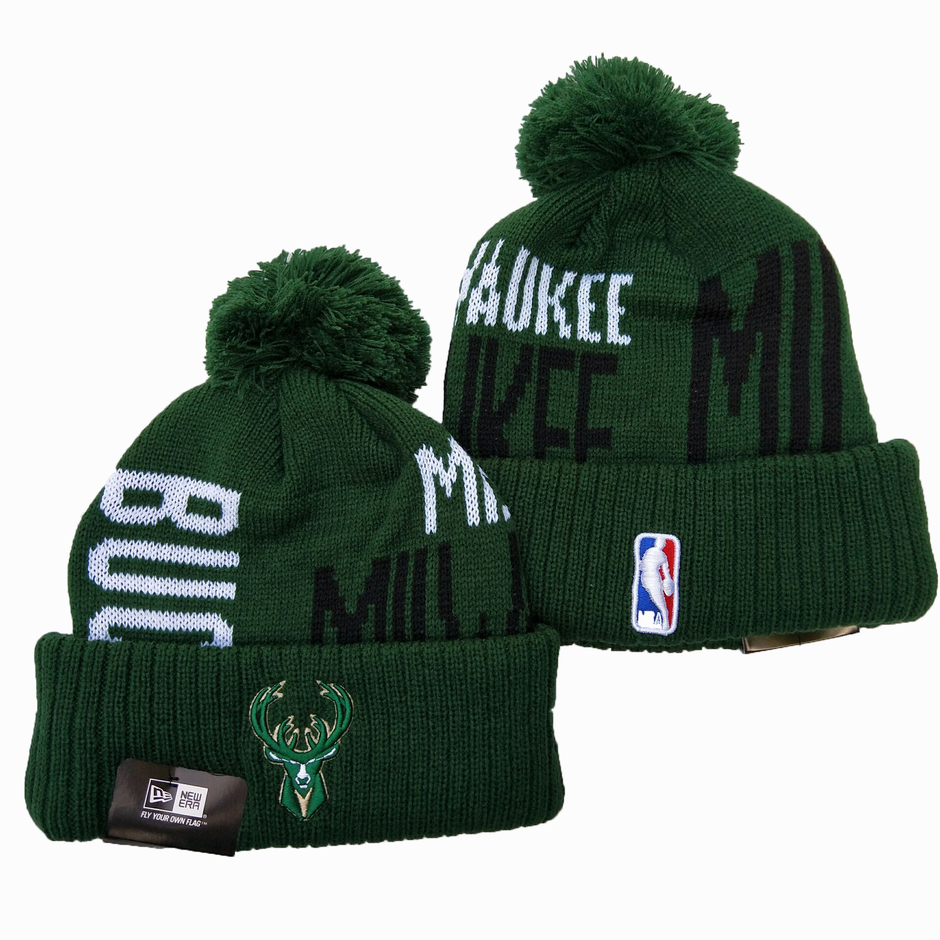 NBA Milwaukee Bucks 2019 Knit Hats 002