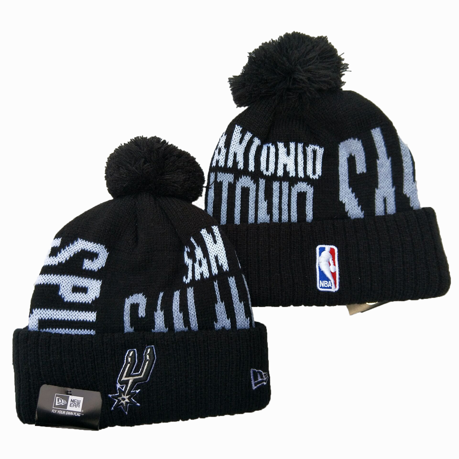 NBA San Antonio Spurs 2019 Knit Hats 008