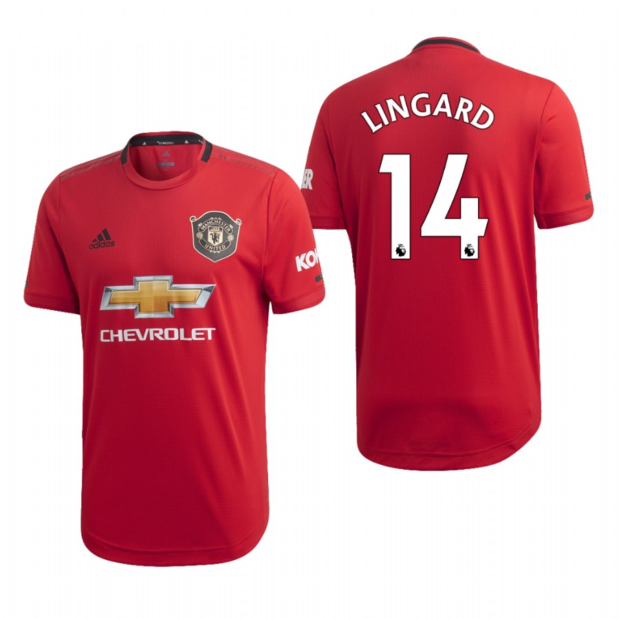 Men's Manchester United #14 Jesse Lingard Red 2019 Soccer Club Home Jersey