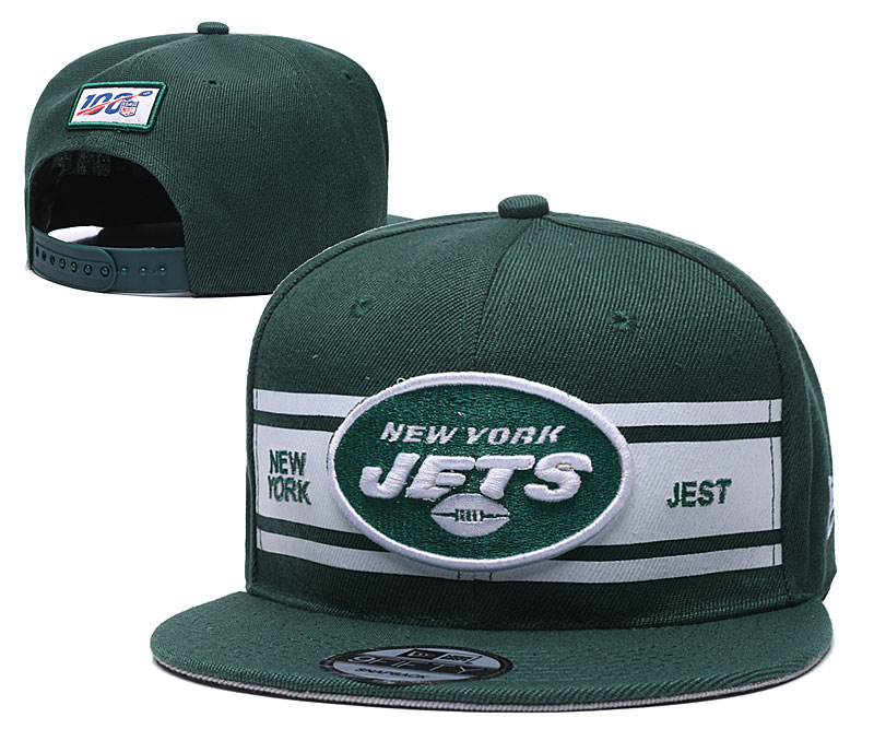 NFL New York Jets Stitched 100th Season Snapback Hats 008