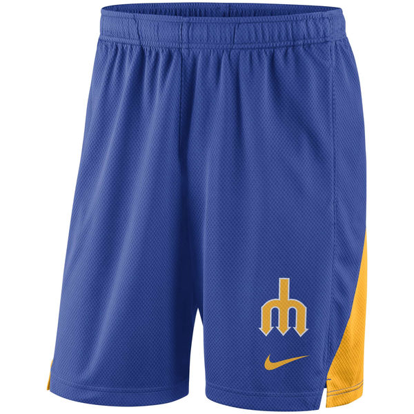 Men's Seattle Mariners Royal Franchise Performance Shorts