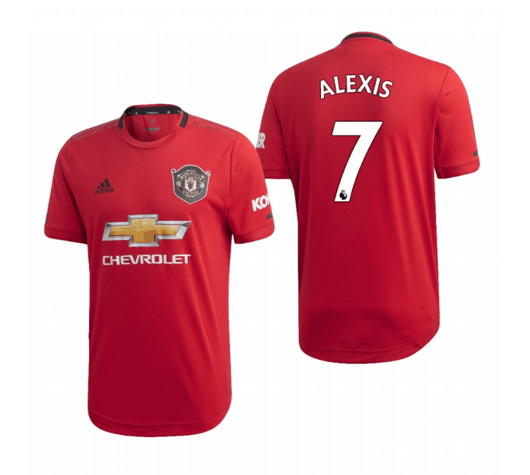 Men's Manchester United #7 Alexis Sanchez Red 2019 Soccer Club Home Jersey