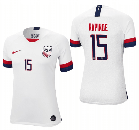 Women's USA #15 Megan Rapinoe White 2019 World Cup Fifa Jersey