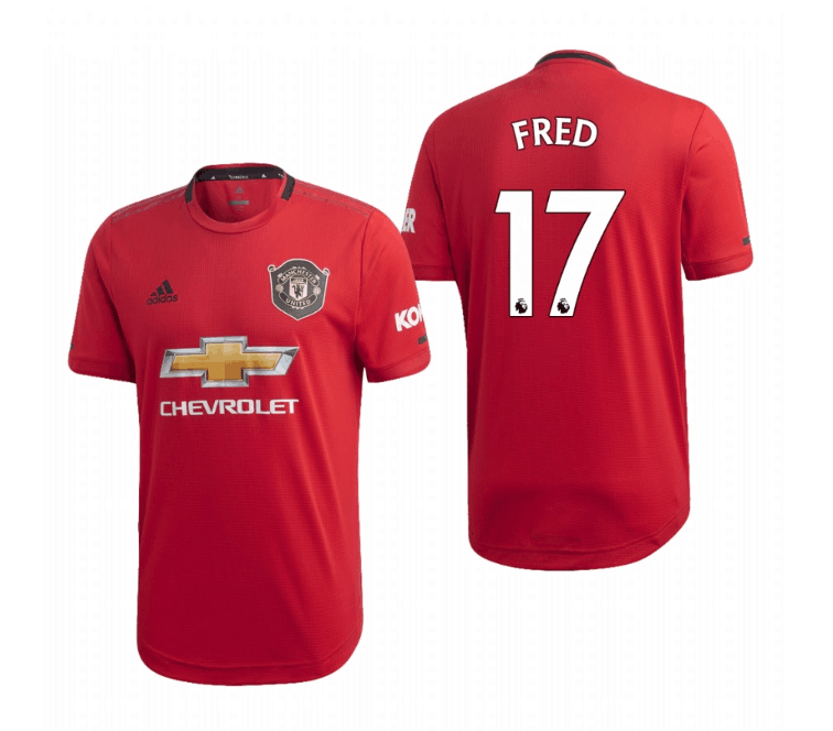 Men's Manchester United #17 Fred Red 2019 Soccer Club Home Jersey