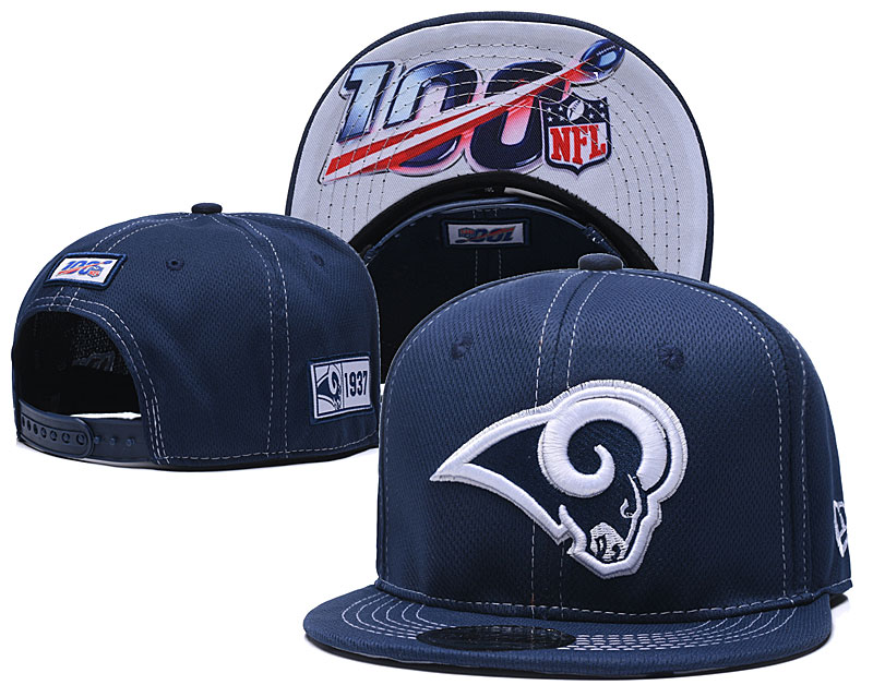 NFL Los Angeles Rams 2019 100th Season Stitched Snapback Hats 025