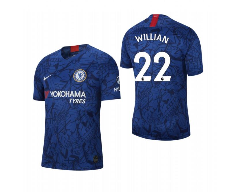 Men's Chelsea #22 Willian Blue 2019 Soccer Club Home Official Jersey