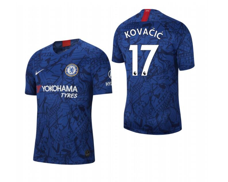 Men's Chelsea #17 Mateo Kovacic Blue 2019 Soccer Club Home Jersey