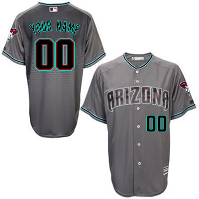 Arizona Diamondbacks Personalized Grey Stitched MLB Jersey