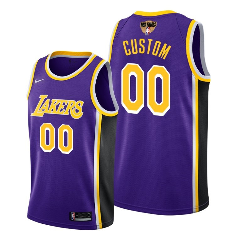Men's Los Angeles Lakers 2020 Purple Customized Finals Bound Statement Edition Stitched Jersey