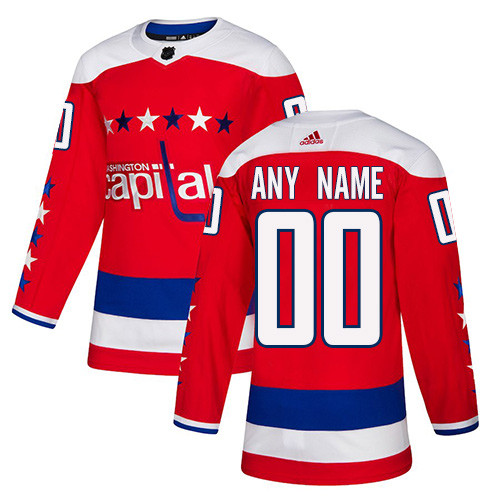 Men's Washington Capitals Red Custom Name Number Size NHL Stitched Jersey