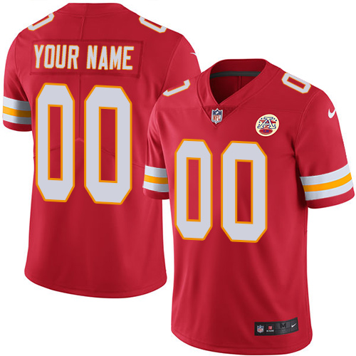 Men's Kansas City Chiefs Customized Red Team Color Vapor Untouchable NFL Stitched Limited Jersey