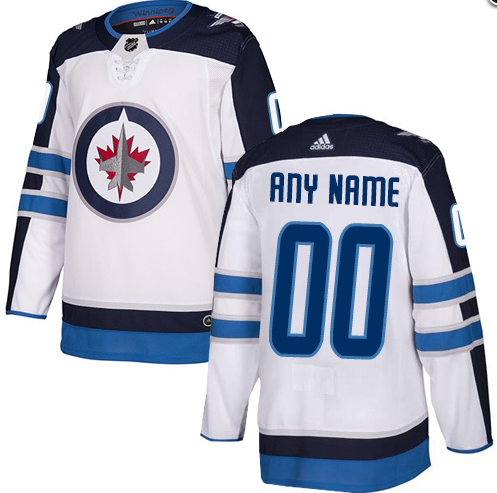 Men's Winnipeg Jets White Custom Name Number Size NHL Stitched Jersey