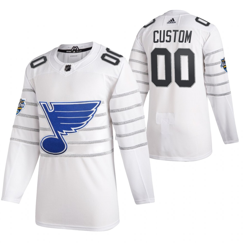 Men's St. Louis Blues 2020 White All Star Custom NHL Stitched Jersey