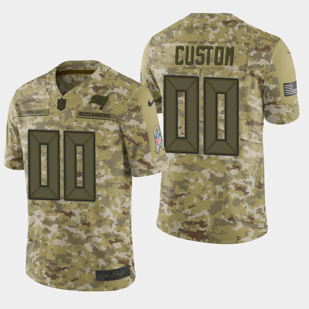 Men's Tampa Bay Buccaneers Customized Camo Salute To Service Limited Stitched NFL Jersey