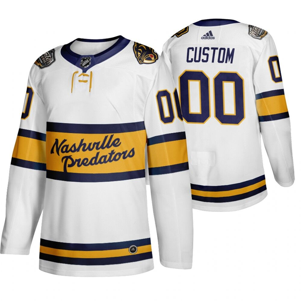 Men's Nashville Predators Personalized White Stitched NHL Jersey