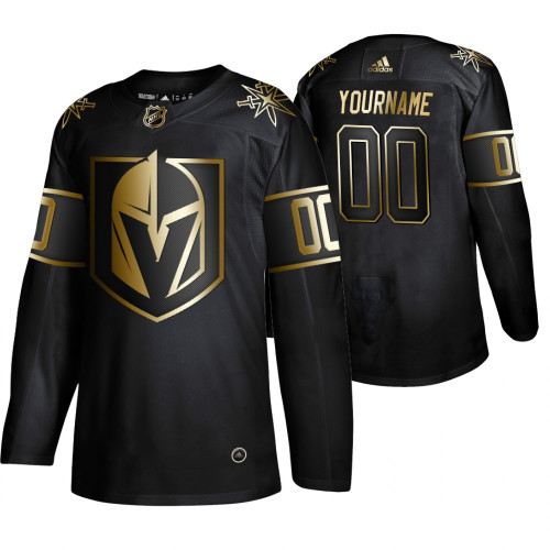 Men's Vegas Golden Knights Black Custom Name Number Size NHL Stitched Jersey