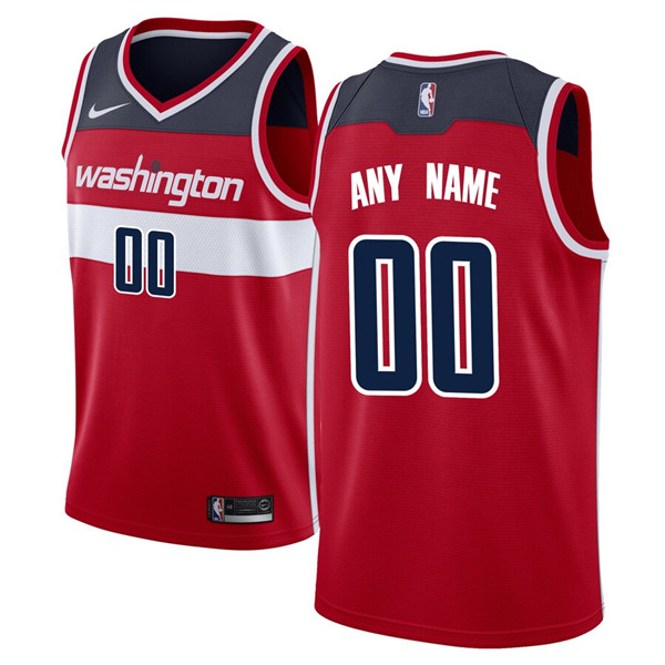 Men's Washington Wizards Red Customized Stitched NBA Jersey
