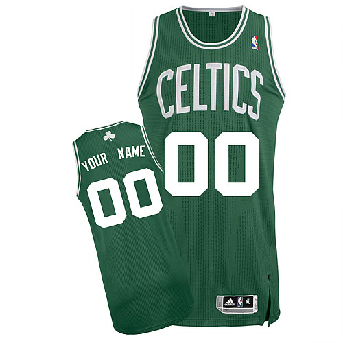 Celtics Personalized Authentic Green NBA Jersey (S-3XL)
