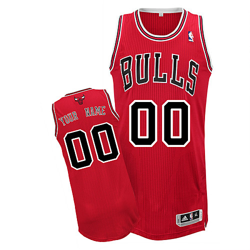 Bulls Personalized Authentic Red NBA Jersey (S-3XL)
