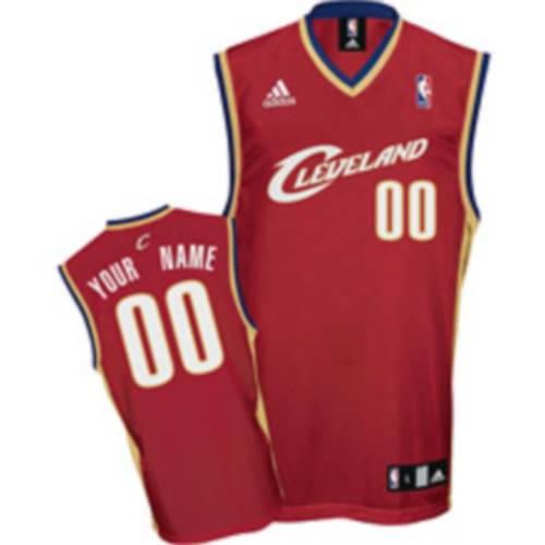Cavaliers Personalized Authentic Red NBA Jersey (S-3XL)