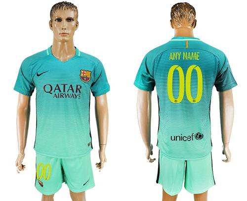 Barcelona Personalized Sec Away Soccer Club Jersey
