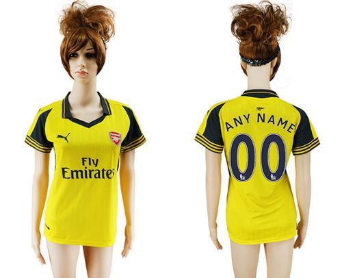Women's Arsenal Personalized Away Soccer Club Jersey