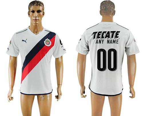 Guadalajara Personalized Away Soccer Club Jersey