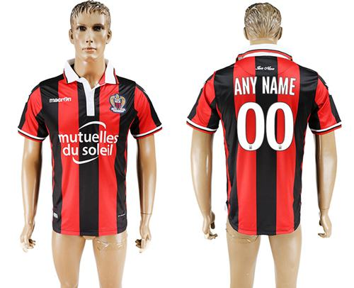 OGC Nice Personalized Home Soccer Club Jersey