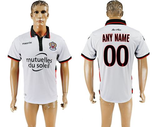 OGC Nice Personalized Away Soccer Club Jersey