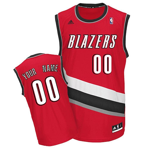 Trail Blazers Personalized Authentic Red NBA Jersey (S-3XL)