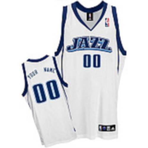 Jazz Personalized Authentic White NBA Jersey (S-3XL)
