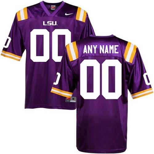 LSU Tigers Personalized Authentic Purple NCAA Jersey