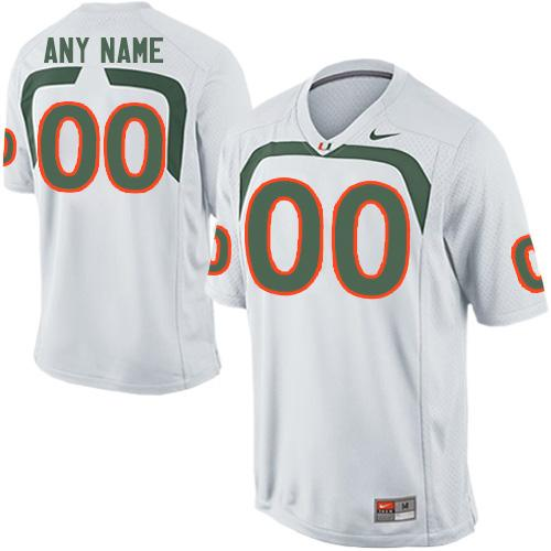 Hurricanes Personalized Authentic White NCAA Jersey