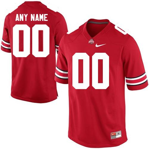 Buckeyes Personalized Authentic Red NCAA Jersey