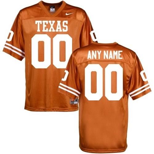 Longhorns Personalized Authentic Orange NCAA Jersey