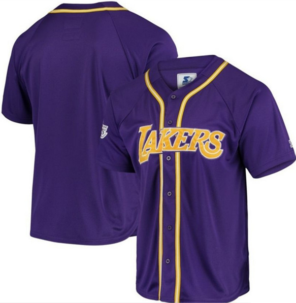 Men's Los Angeles Lakers Customized Purple Stitched NBA Jersey