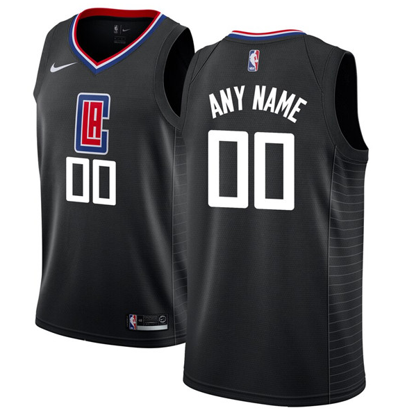 Youth Los Angeles Clippers Black Customized Stitched NBA Jersey
