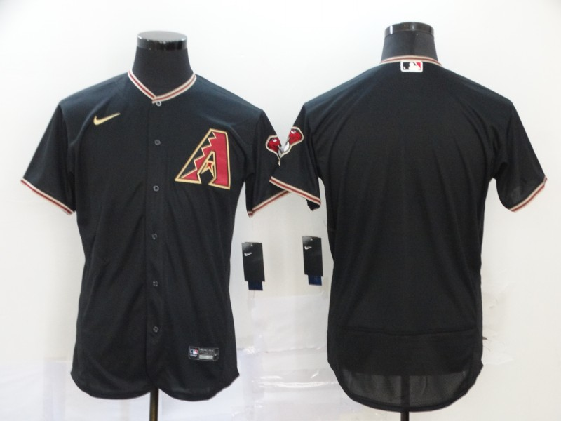 Men's Arizona Diamondbacks Blank 2020 Black Flex Base Stitched MLB Jersey